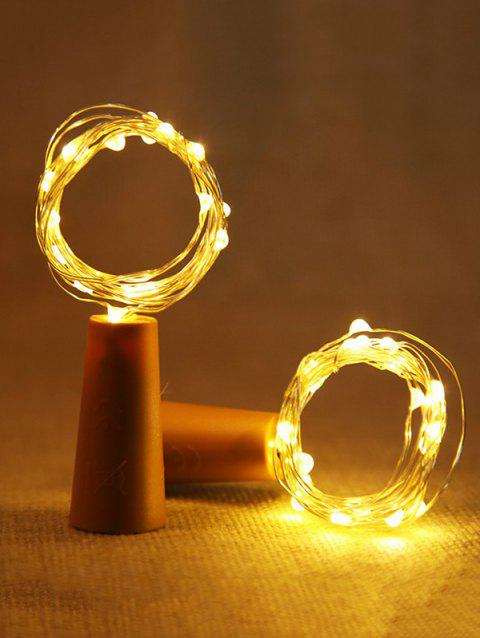 Wine Bottle Stopper with 2 Meters Copper Wire String Lights - ORANGE GOLD WARM LIGHT