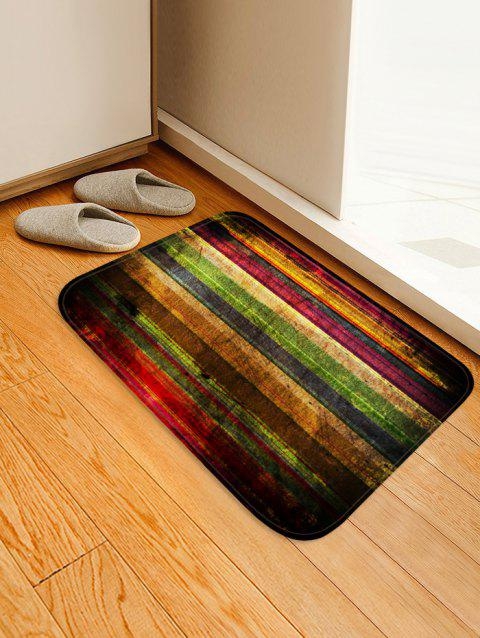 Colorful Wooden Board Pattern Water Absorption Area Rug - RED WINE W16 X L24 INCH