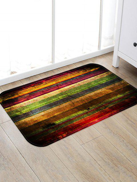 Colorful Wooden Board Pattern Water Absorption Area Rug - RED WINE W20 X L31.5 INCH