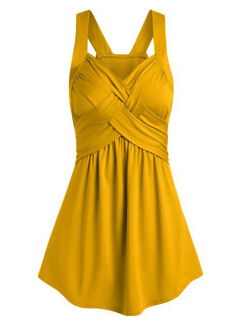 Solid Surplice Tank Top - RUBBER DUCKY YELLOW XL