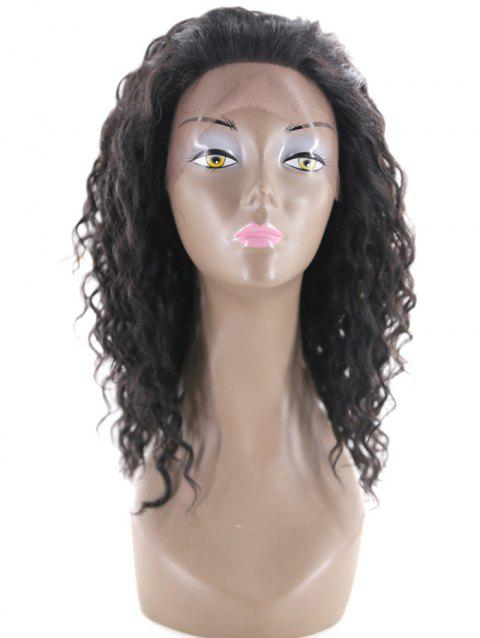 Deep Curly Human Hair Medium Front Lace Wig - NIGHT 12INCH