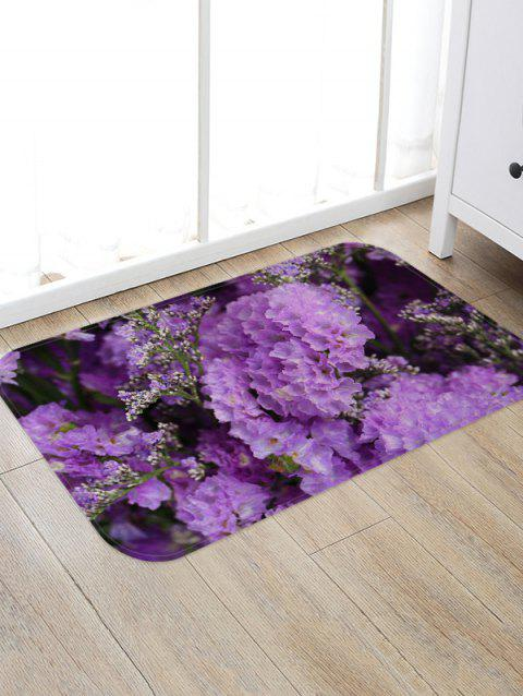 Flowers Pattern Water Absorption Flannel Area Rug - multicolor A W20 X L31.5 INCH