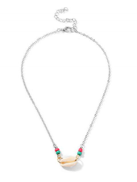 Beads Shell Beach Brief Necklace - SILVER