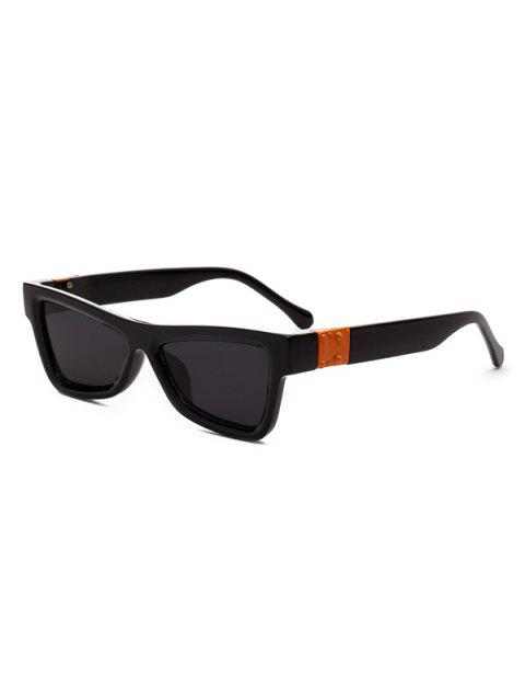 Stylish Vintage Square Chic Sunglasses - BLACK