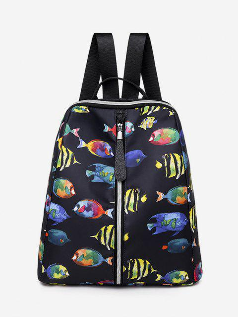 Printed Multifunctional Oxford Fabric Backpack - multicolor B