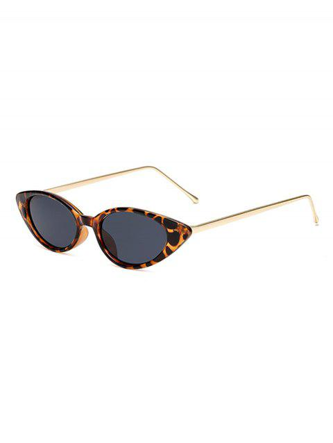 Vintage Catty Eye Metal Sunglasses - LEOPARD