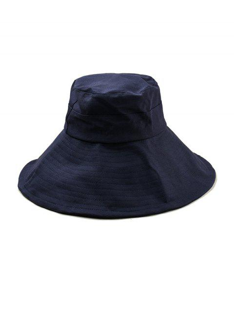 Chapeau Seau Protection-Soleil à Ourlet Large - Cadetblue