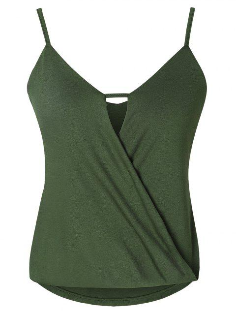 Adjustable Strap Keyhole Crossover Camisole - CAMOUFLAGE GREEN 2XL