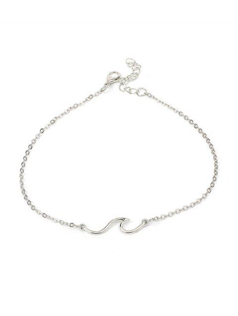 1PC Simple Chain Anklet - SILVER