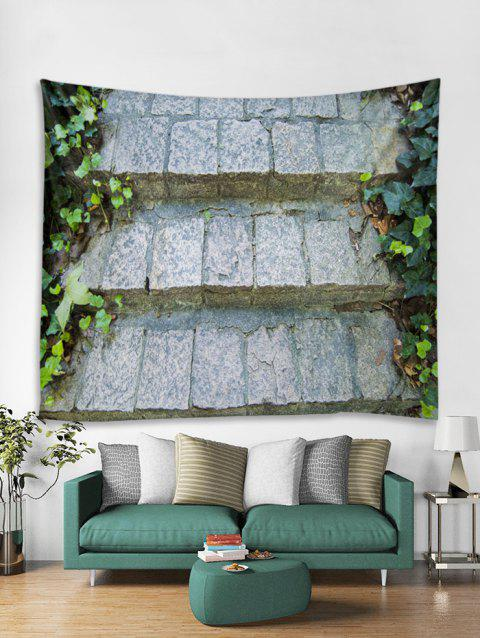 3D Stone Pathway Print Home Decor Tapestry - multicolor A W91 X L71 INCH