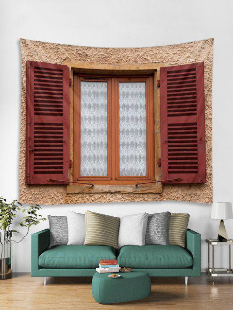 3D Wall Window Print Home Decor Tapestry - multicolor A W79 X L59 INCH