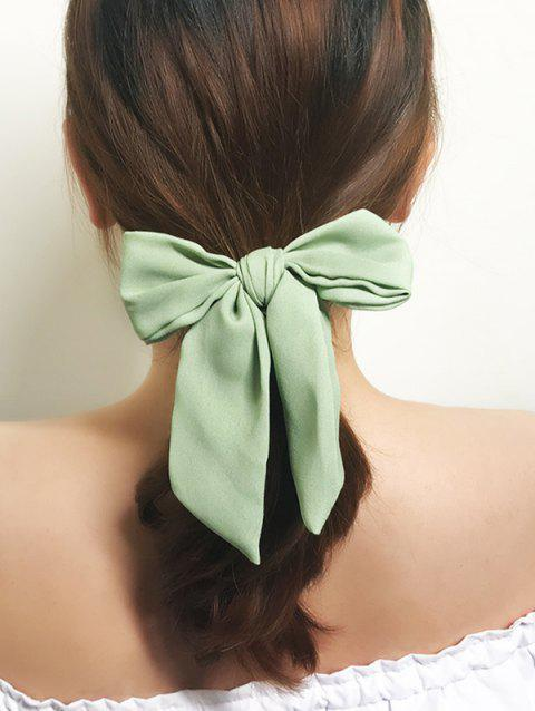 Solid Color Bowknot Ponytail Hair Scrunchie - DARK SEA GREEN