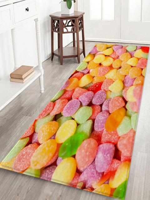 Colorful Candy 3D Print Flannel Floor Rug - multicolor A W24 X L71 INCH