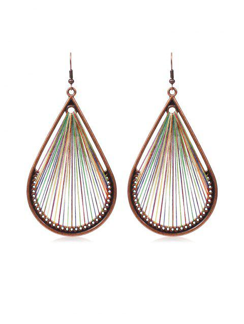 Sewing Art Water Drop Hook Earrings - COPPER