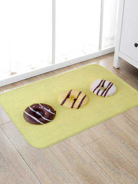 Brief Doughnut Flannel 3D Print Floor Rug - multicolor A W20 X L31.5 INCH