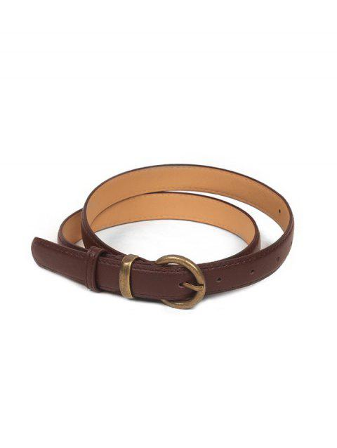 Metal Buckle Vintage PU Leather Belt - COFFEE