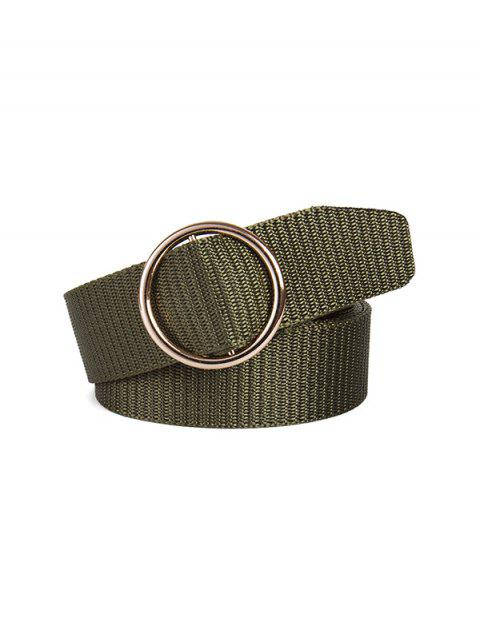 Canvas Round Buckle Simple Belt - ARMY GREEN