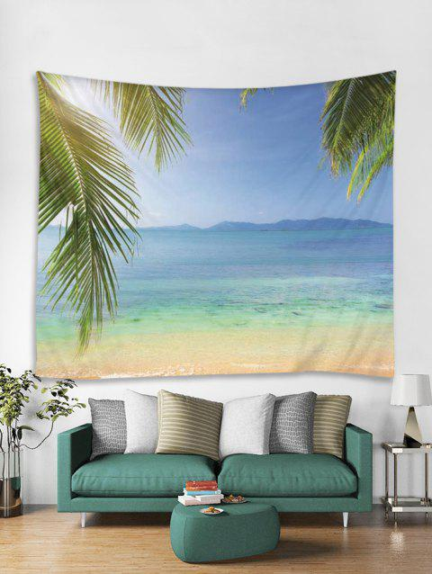 Beach Print Art Decoration Wall Tapestry - multicolor A W91 X L71 INCH