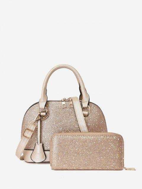 Glitter Two Piece Shell Tote Bag Set
