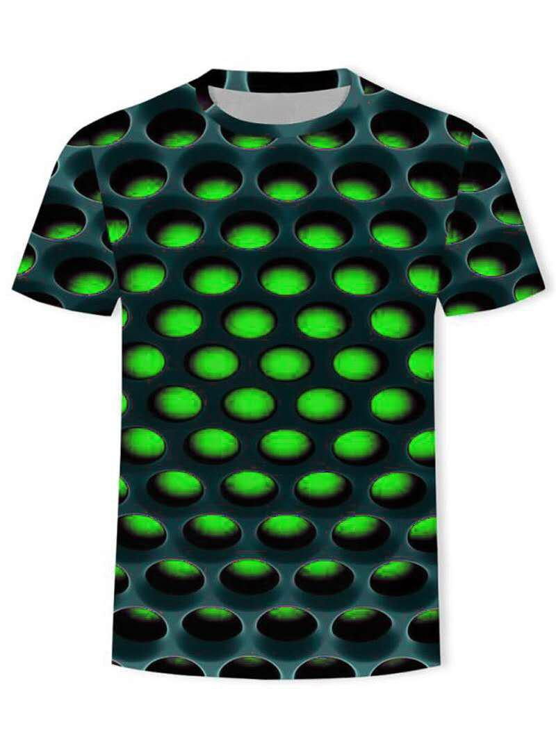 Burning Honeycomb Briquette Graphic Tee - GREEN S