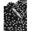 Knot Polka Dot A Line Cami Dress - BLACK S