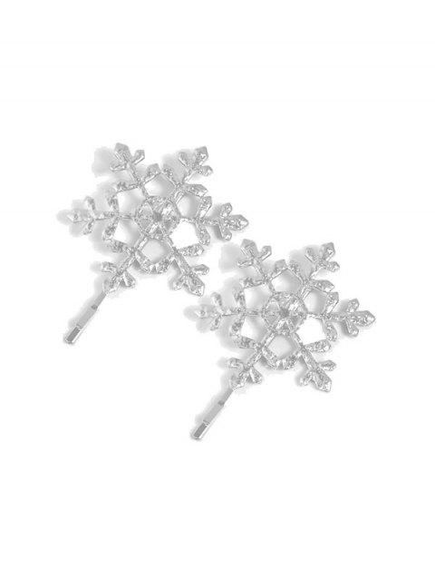 Hollow Out Snowflake Shape Hair Clip - SILVER