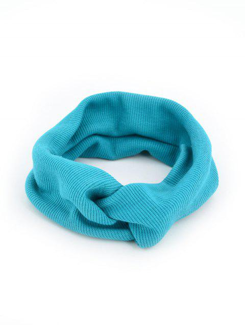 Solid Color Knit Elastic Hair Band - BLUE