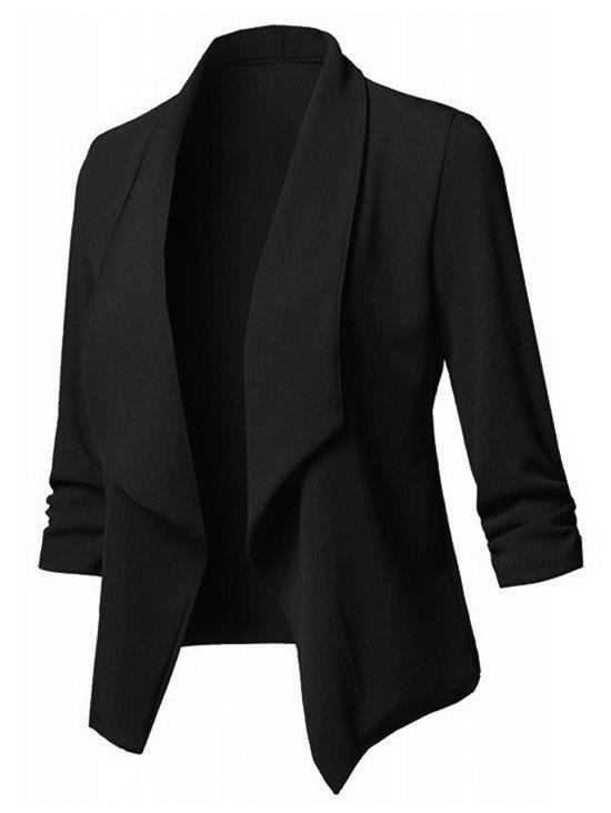 Plus Size Shawl Collar Open Front Blazer - BLACK 3X