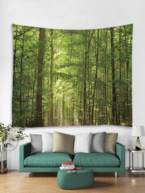 Sunshine Forest Pattern Tapestry - multicolor A W59 X L51 INCH