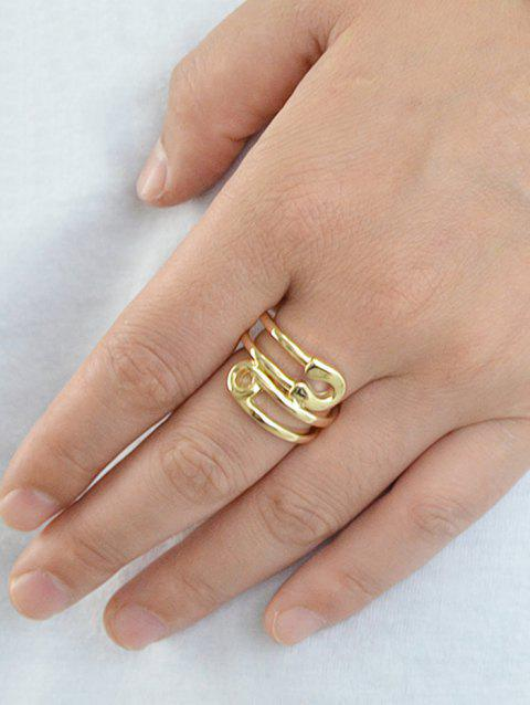 Alloy Pin Shaped Ring - GOLD