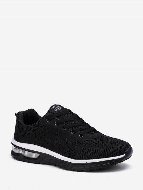 Lace-up Breathable Casual Sport Sneakers - BLACK EU 41
