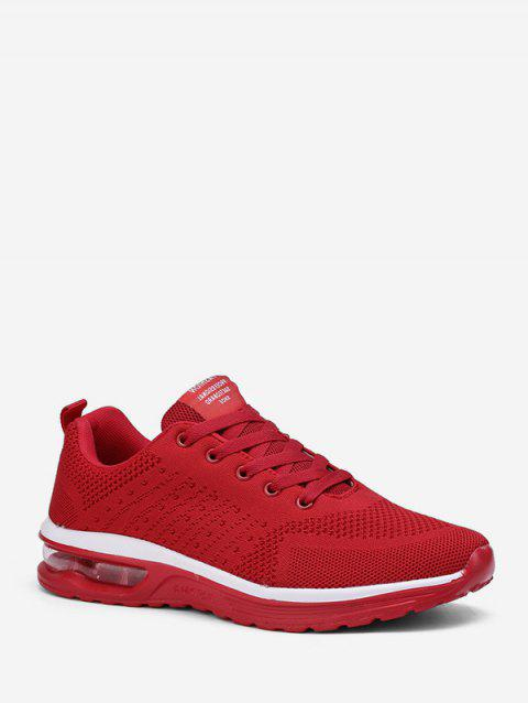 Lace-up Breathable Casual Sport Sneakers - RED EU 43