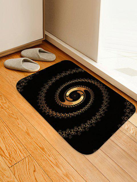 Abstract Spiral Pattern Water Absorption Area Rug - NIGHT W16 X L24 INCH