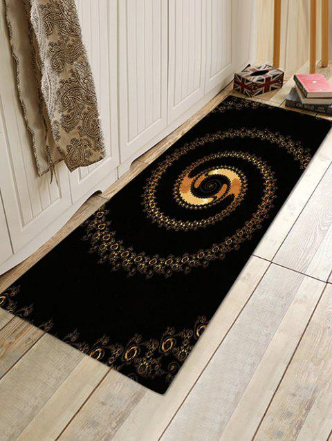Abstract Spiral Pattern Water Absorption Area Rug - NIGHT W16 X L47 INCH