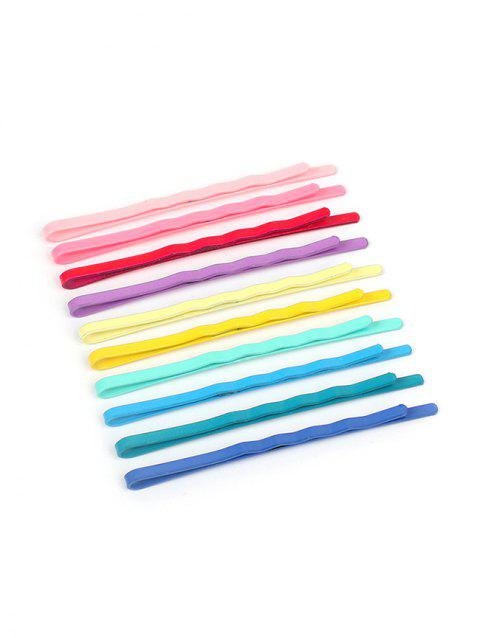 50 PCS Stylish Colorful Hairpins - multicolor A