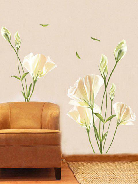 Flowers Printed Removable Wall Art Stickers - multicolor A 24 X 36 INCH