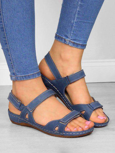 Casual Beach Open Toe Flat Sandals - BLUE US 10.5 (LABEL SIZE 43)