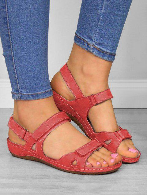 Casual Beach Open Toe Flat Sandals - Rouge US 8 (LABEL SIZE 39)