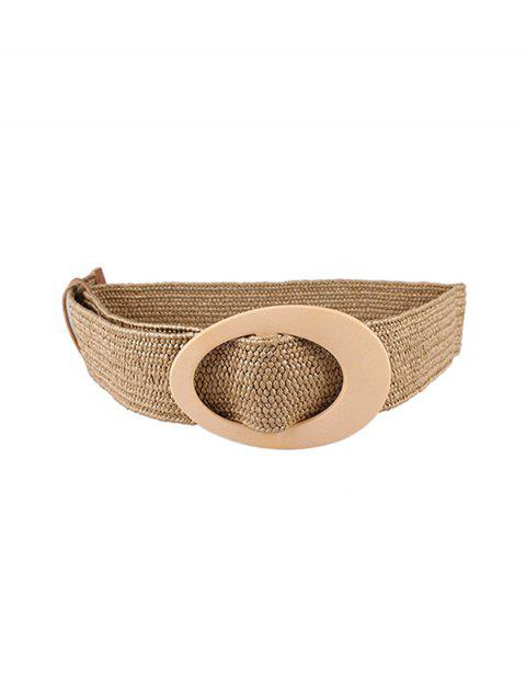 Oval Buckle Weaving Belt - KHAKI