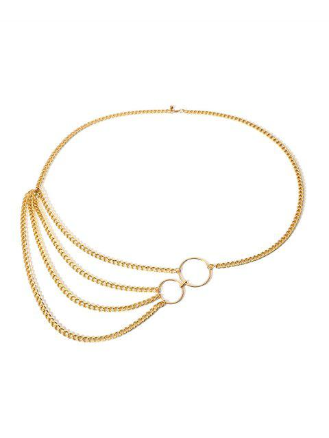 Asymmetrical Layered Waist Chain - GOLD