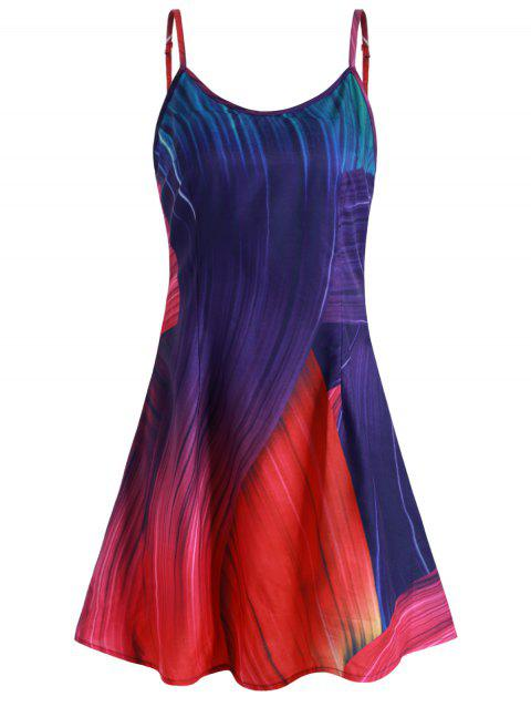 Multicolor Printed A Line Cami Dress - multicolor XL