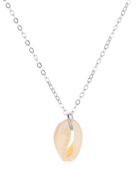 Collier Pendant Coquille Simple - Argent