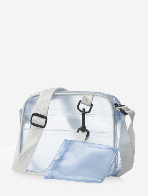 Casual Transparent Small Crossbody Bag - LIGHT SKY BLUE