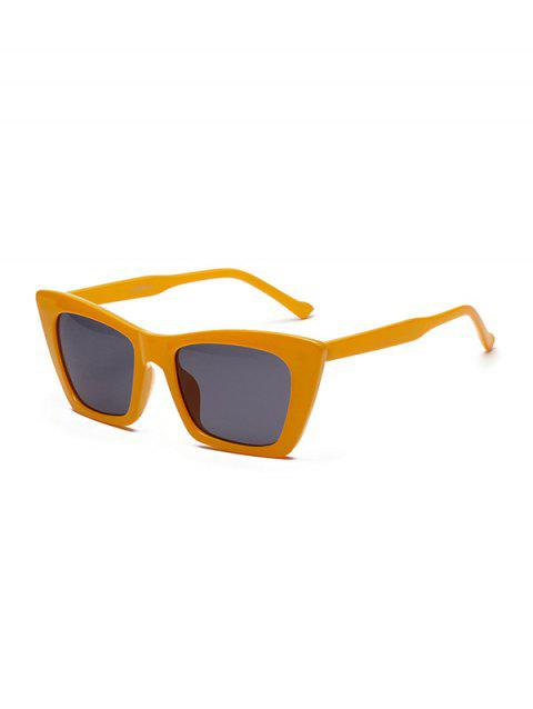 Chic Square Shape Outdoor Sunglasses - BEE YELLOW