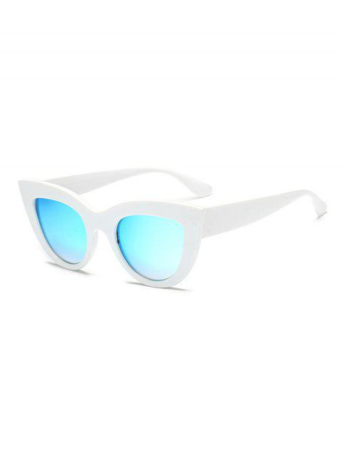 Vintage Style Big Frame Outdoor Sunglasses - WHITE