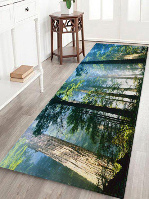 Forest Mist Pattern Water Absorption Area Rug - multicolor A W24 X L71 INCH