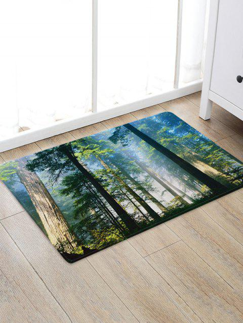 Forest Mist Pattern Water Absorption Area Rug - multicolor A W20 X L31.5 INCH