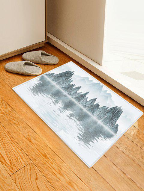 Landscape Painting Printed Floor Rug - GRAY CLOUD W24 X L35.5 INCH