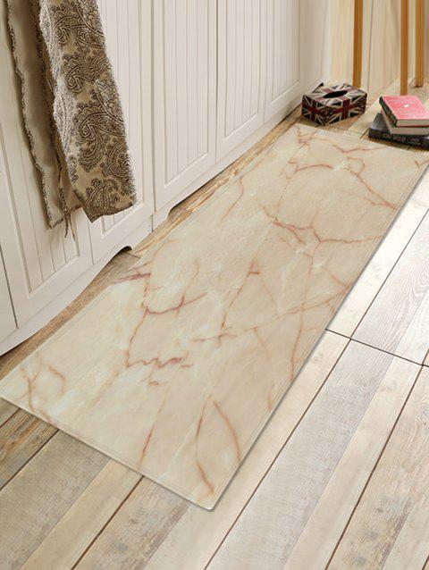 Marble Patterned Flannel Water Absorption Area Rug - multicolor A W24 X L71 INCH