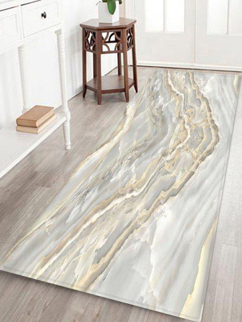 V Shape Marbling 3D Print Floor Rug - multicolor A W24 X L71 INCH